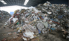 Input waste stream for recycling plants