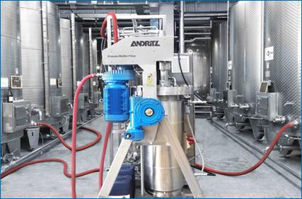 Krauss-Maffei DCF dynamic crossflow filter for filtration