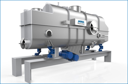 Fluid bed dryer and cooler for milk powder production