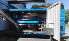 Screw press mobile unit